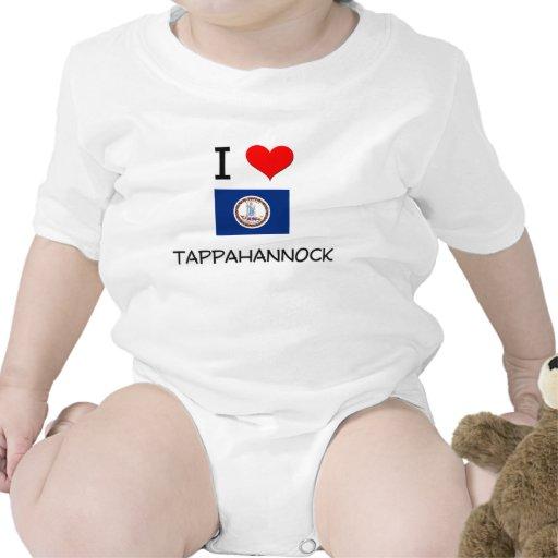 I Love Tappahannock Virginia Baby Bodysuit