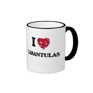I love Tarantulas Ringer Coffee Mug