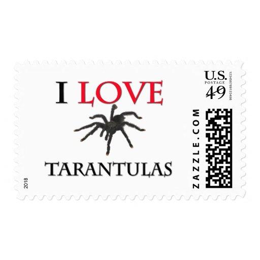 I Love Tarantulas Stamp