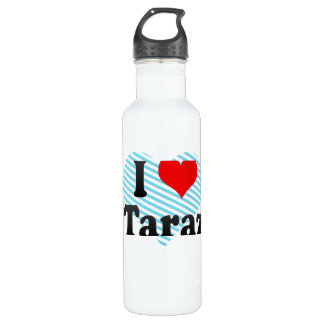 I Love Taraz, Kazakhstan 24oz Water Bottle