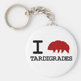 I Love Tardigrades Basic Round Button Keychain