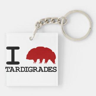 I Love Tardigrades Keychain
