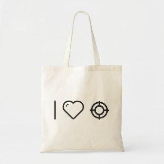 I Love target practice Budget Tote Bag