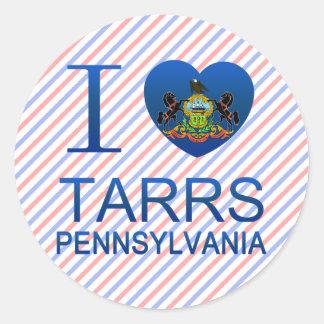 I Love Tarrs, PA Round Stickers