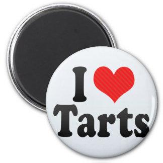 I Love Tarts 2 Inch Round Magnet