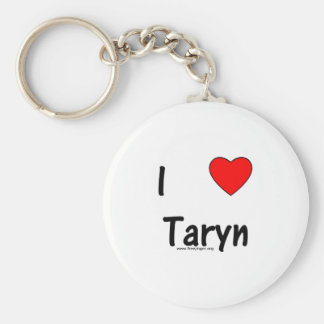 I Love Taryn Keychain