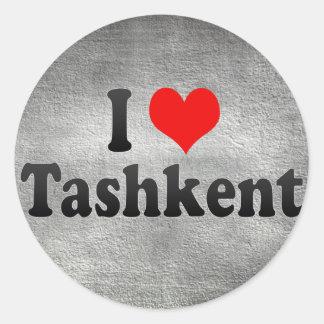 I Love Tashkent, Uzbekistan Classic Round Sticker