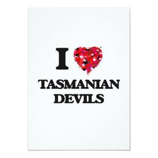 I love Tasmanian Devils 5x7 Paper Invitation Card