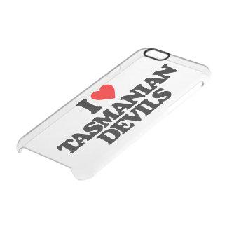 I LOVE TASMANIAN DEVILS CLEAR iPhone 6/6S CASE