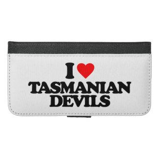 I LOVE TASMANIAN DEVILS iPhone 6/6S PLUS WALLET CASE