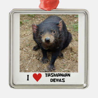 I love Tasmanian devils Metal Ornament