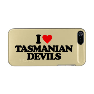 I LOVE TASMANIAN DEVILS METALLIC iPhone SE/5/5s CASE