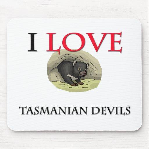 I Love Tasmanian Devils Mouse Mats