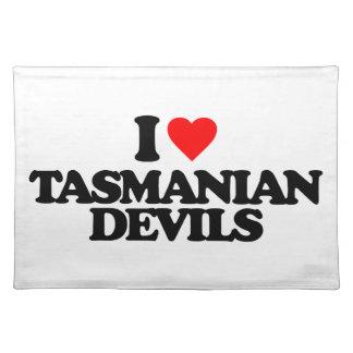 I LOVE TASMANIAN DEVILS PLACEMATS