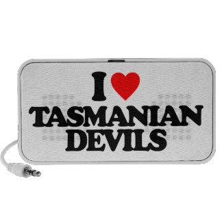 I LOVE TASMANIAN DEVILS MP3 SPEAKERS