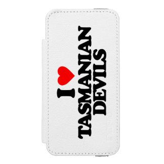 I LOVE TASMANIAN DEVILS WALLET CASE FOR iPhone SE/5/5s