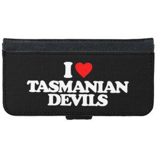 I LOVE TASMANIAN DEVILS WALLET PHONE CASE FOR iPhone 6/6S