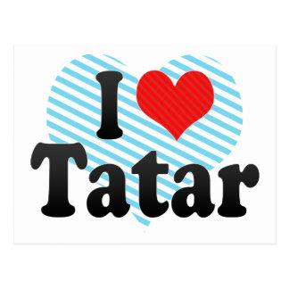 I Love Tatar Postcard