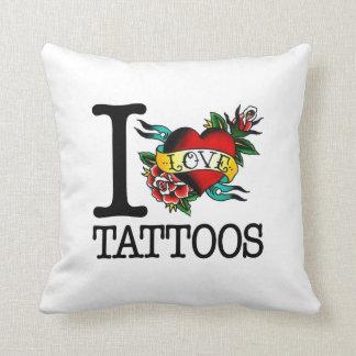 i love tattoos inked heart pillow , cushion