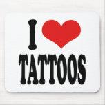 I Love Tattoos Mouse Mat