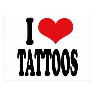 I Love Tattoos Postcard
