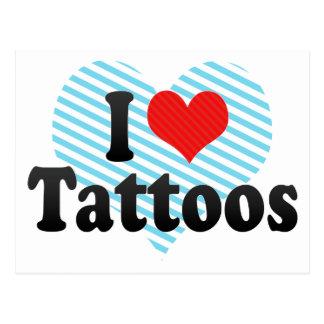 I Love Tattoos Postcard