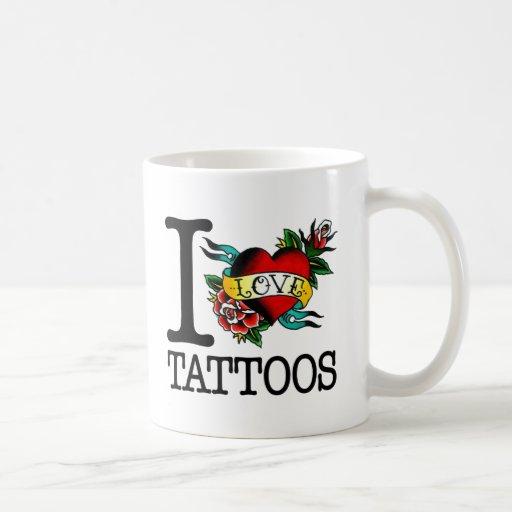 i love tattoos tattoo inked tat design classic white coffee mug
