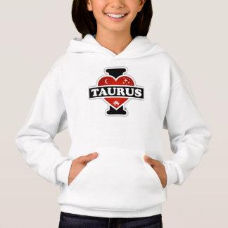 I Love Taurus Hoodie