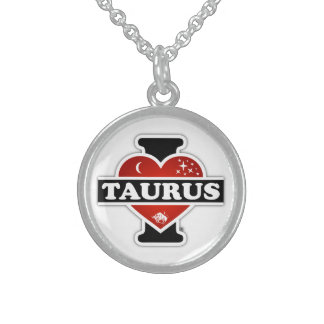 I Love Taurus Sterling Silver Necklace