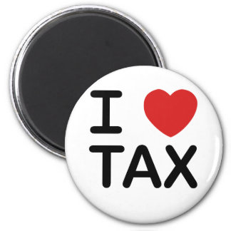 I Love Tax 2 Inch Round Magnet