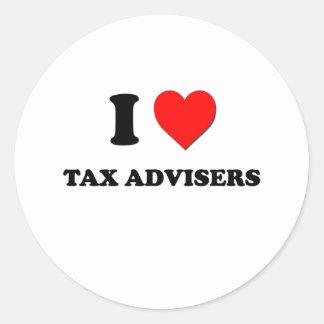I Love Tax Advisers Round Sticker