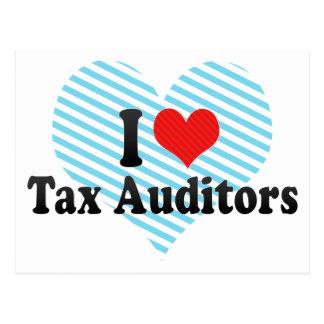 I Love Tax Auditors Postcards