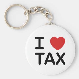 I Love Tax Basic Round Button Keychain