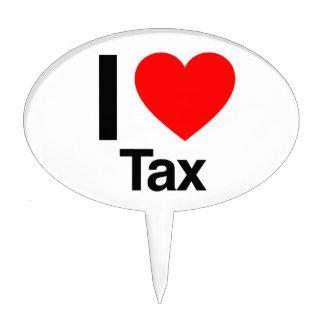 i love tax cake picks