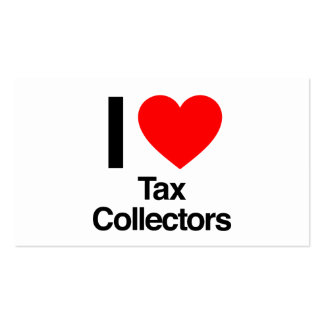 i love tax collectors business cards