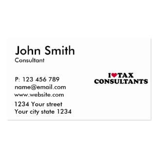 I love tax consultants business card
