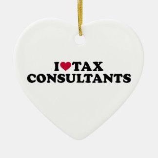 I love tax consultants ceramic ornament