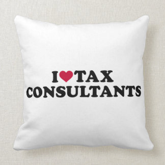 I love tax consultants throw pillow
