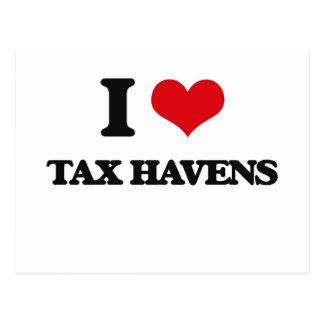 I Love Tax Havens Postcard