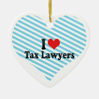 I Love Tax Lawyers Christmas Ornament