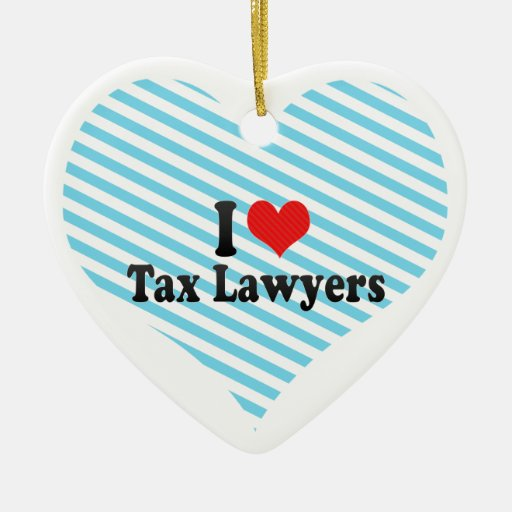 I Love Tax Lawyers Double-Sided Heart Ceramic Christmas Ornament
