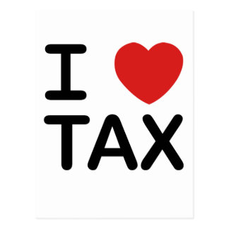 I Love Tax Postcard