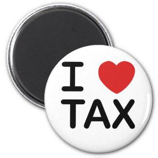 I Love Tax Refrigerator Magnets