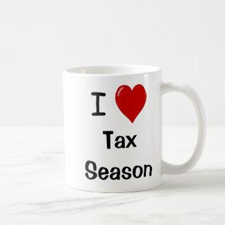 I Love Tax Season - I Heart Tax Season Classic White Coffee Mug