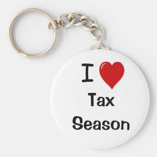 I Love Tax Season - I Heart Tax Season Keychain