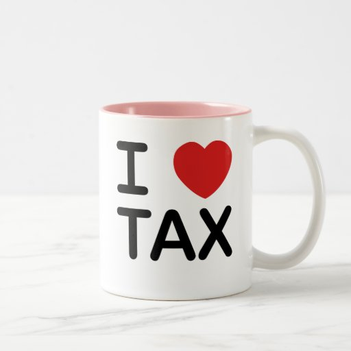 I Love Tax Two-Tone Coffee Mug