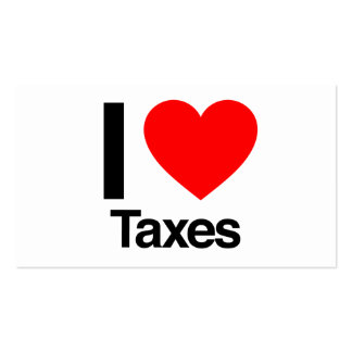i love taxes business cards