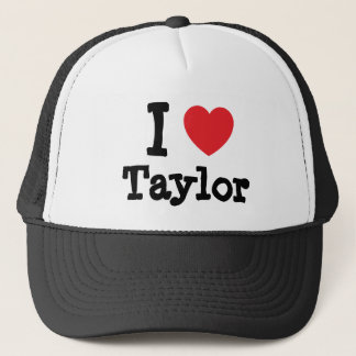 I love Taylor heart custom personalized Trucker Hat