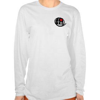 I LOVE TB Ladies AA Hoody Long Sleeve (Fitted) (1