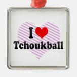 I love Tchoukball Christmas Tree Ornaments